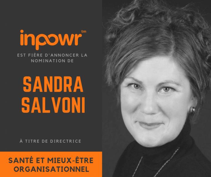 Nomination de Sandra Salvoni