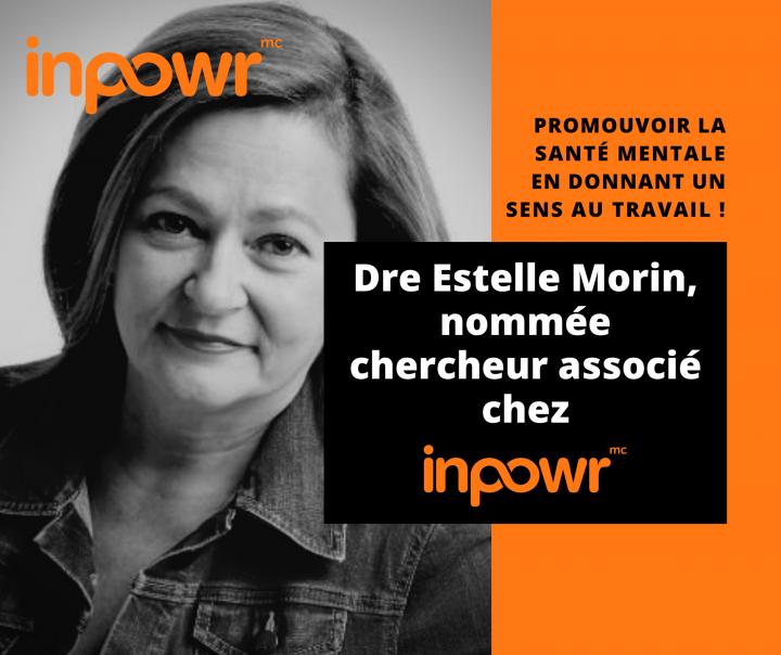 Nomination de Dre Estelle Morin
