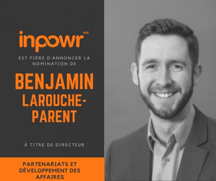 Nomination de Benjamin Larouche-Parent