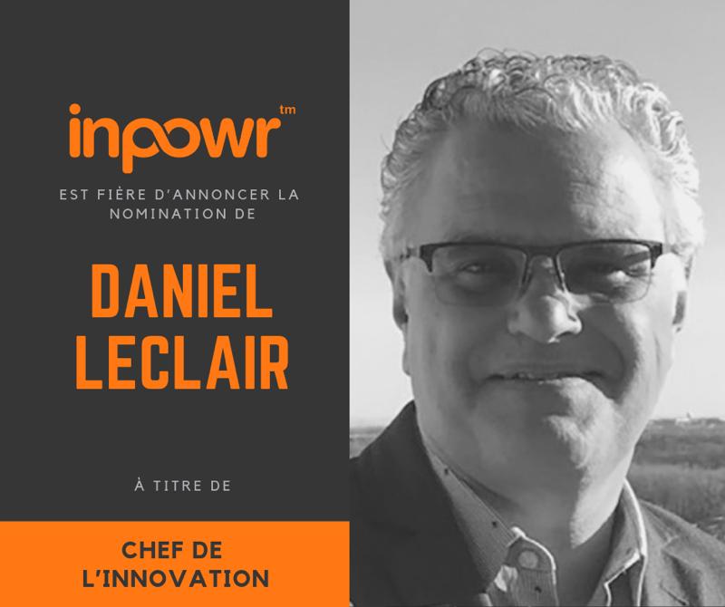 Nomination de Daniel Leclair